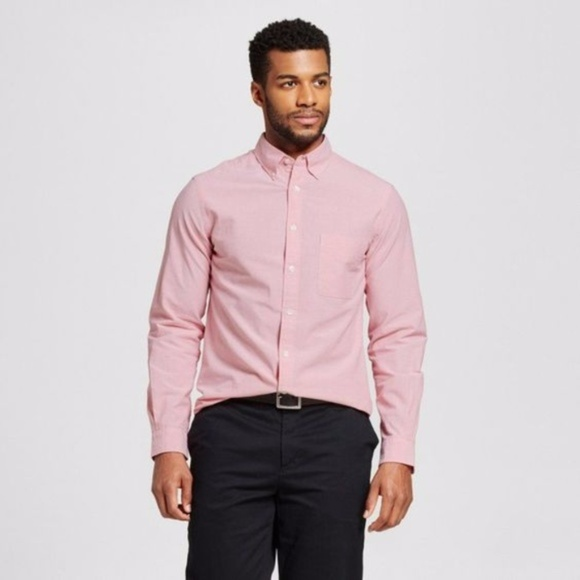 Merona Shirts Sale New Mens Oxford Button Down Shirt Red Poshmark